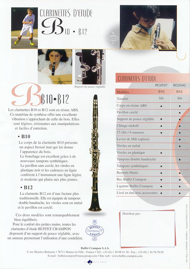 clarinettes buffet crampon